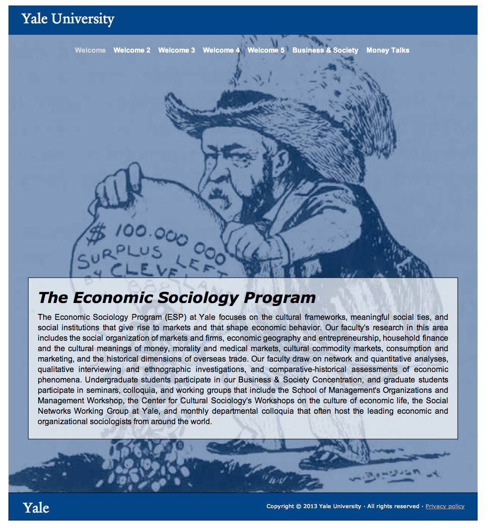Economic Sociology Program @ Yale