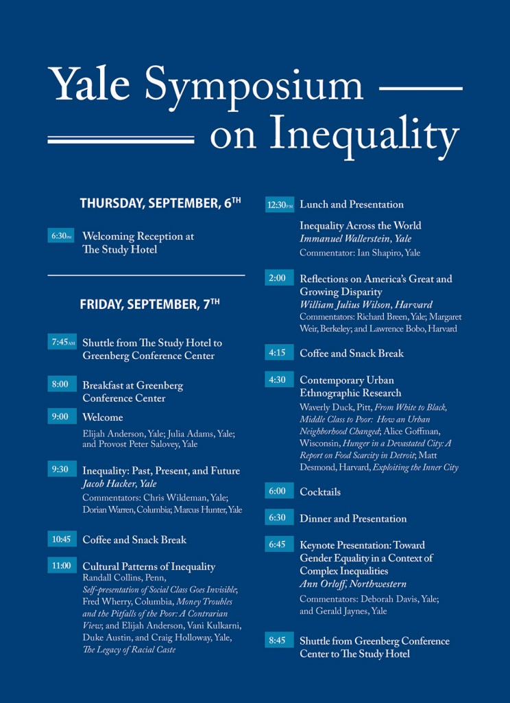 Yale Symposium on Inequality