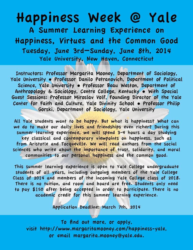 Happiness Week @ Yale