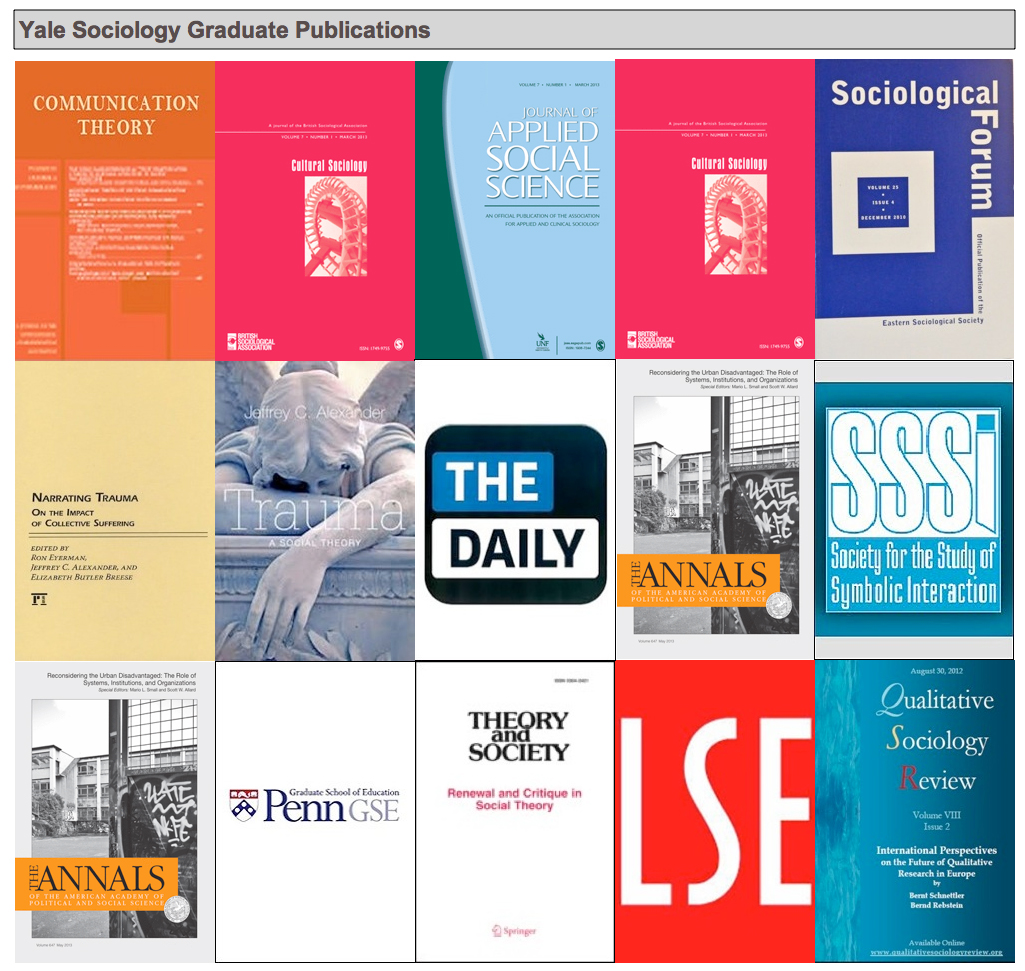 Yale Sociology Graduate Publications