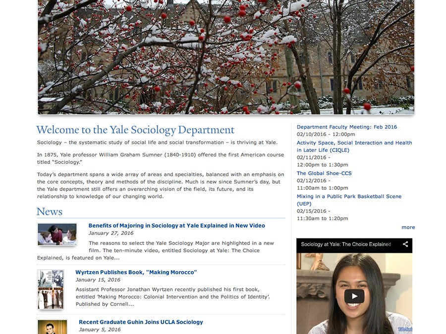 Yale Department of Sociology